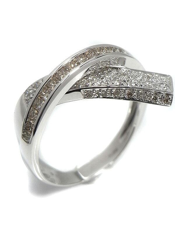 【グラデーション】セレクトジュエリー『K18WGリング ダイヤモンド1.00ct』11号 1週間保証【中古】