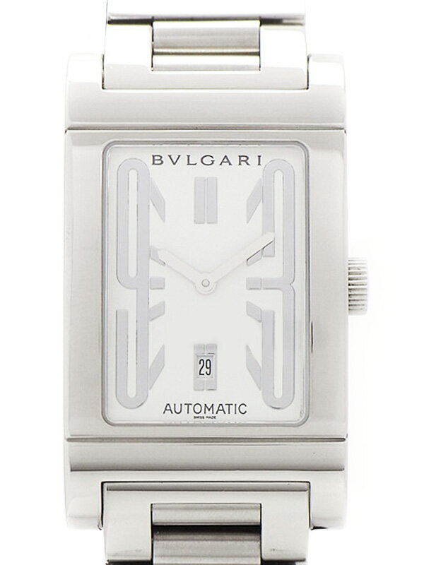 【BVLGARI】【OH・仕上済】ブルガリ『レッタンゴロ』RT45S メンズ 自動巻き 1ヶ月保証【中古】