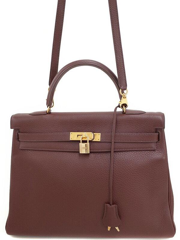 【HERMES】【ゴールド金具】エルメス『ケリー35 内縫い』B刻印 1998年製 レディース 2WAYバッグ 1週間保証【中古】
