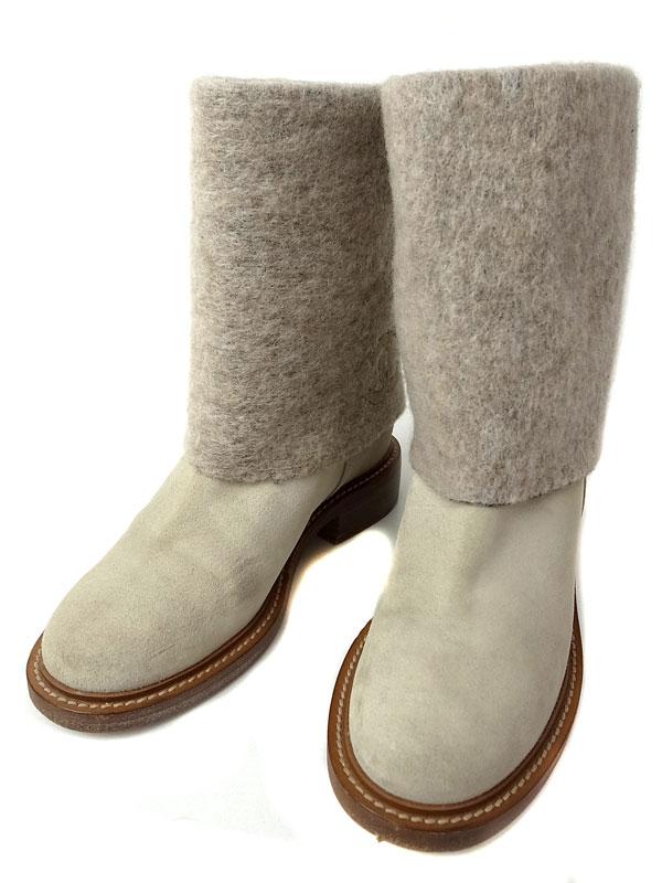 【CHANEL】シャネル『ココマーク ショートブーツ size38C』G30100 レディース 1週間保証【中古】
