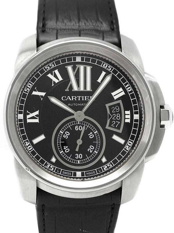 【Cartier】【裏スケ】【内部点検済】カルティエ『カリブル ドゥ カルティエ』W7100041 メンズ 自動巻き 3ヶ月保証【中古】