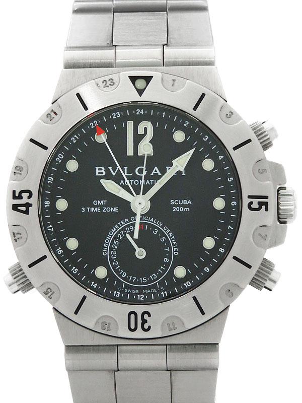 【BVLGARI】ブルガリ『ディアゴノ スクーバ GMT』SD38SGMT メンズ 自動巻き 3ヶ月保証【中古】