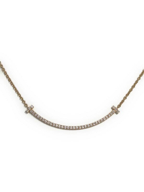 【TIFFANY&Co.】【仕上済】ティファニー『T スマイル ミニ ダイヤ ペンダント ネックレス』1週間保証【中古】