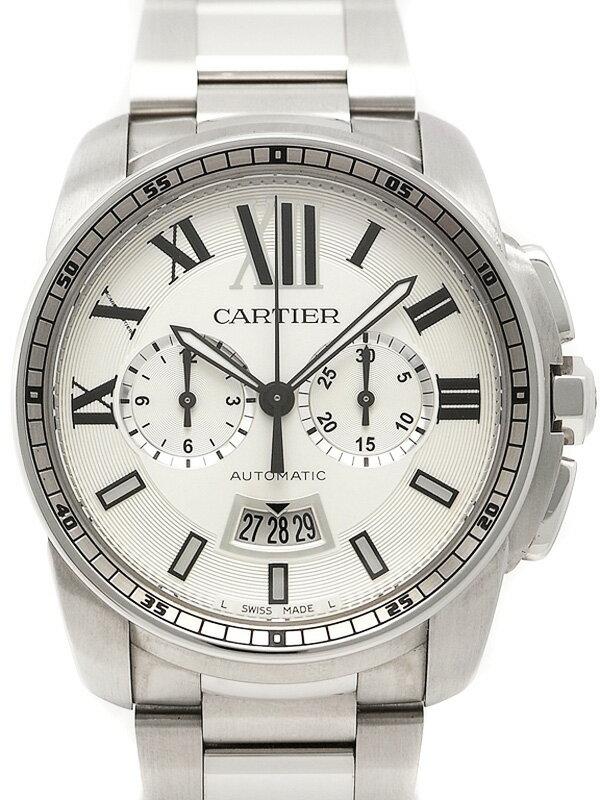 【CARTIER】【裏スケ】カルティエ『カリブル ドゥ カルティエ クロノグラフ』W7100045 メンズ 自動巻き 6ヶ月保証【中古】