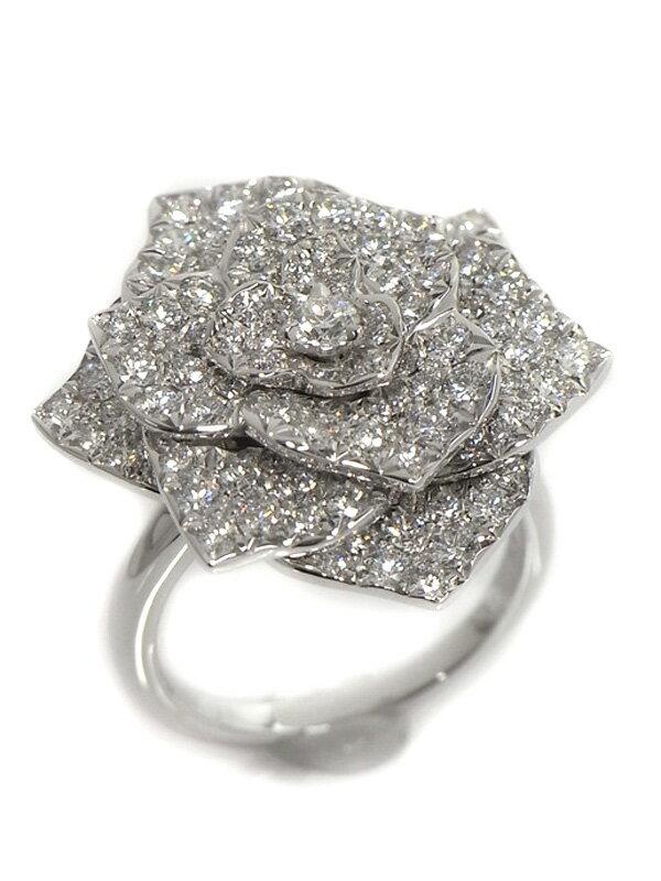 【PIAGET】【Piaget Rose】【仕上済】ピアジェ『K18WGリング ローズ ダイヤ』13号 1週間保証【中古】