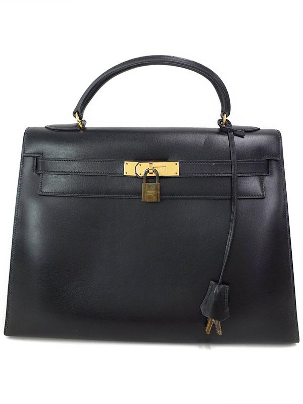 【HERMES】【ゴールド金具】エルメス『ケリー32 外縫い』F刻印 1976年製 レディース ハンドバッグ 1週間保証【中古】