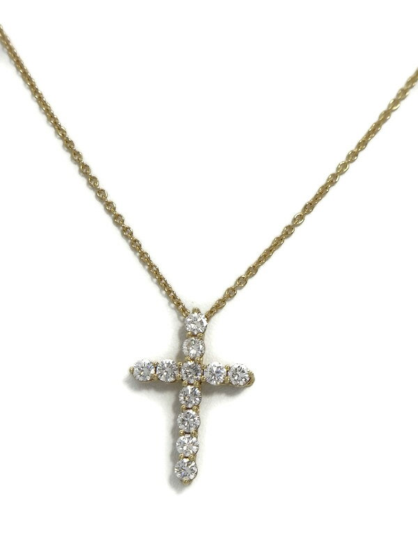 【TIFFANY&Co.】ティファニー『クロス ペンダント ネックレス ダイヤ』1週間保証【中古】