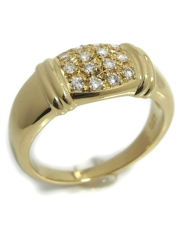 【TASAKI】【仕上済】タサキ『K18YGリング ダイヤモンド0.21ct』11.5号 1週間保証【中古】