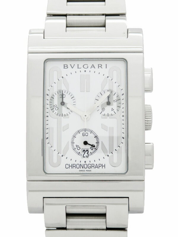 【BVLGARI】ブルガリ『レッタンゴロ クロノグラフ』RTC49S メンズ クォーツ 3ヶ月保証【中古】