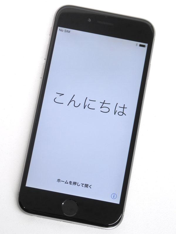 【Apple】アップル『iPhone 6 16GB SoftBank』MG472J/A スペースグレイ iOS10.2.1 4.7型 白ロム ○判定 スマートフォン【中古】