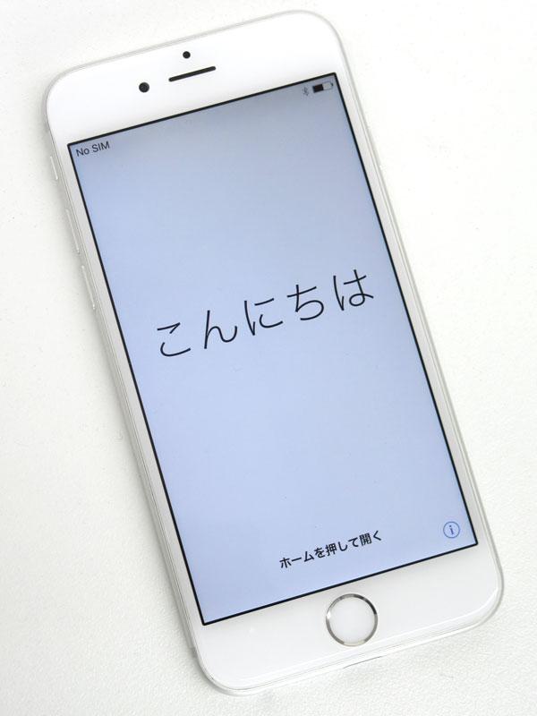 【Apple】アップル『iPhone 6 16GB SoftBank』MG482J/A シルバー iOS10.2.1 4.7型 白ロム ○判定 スマートフォン【中古】