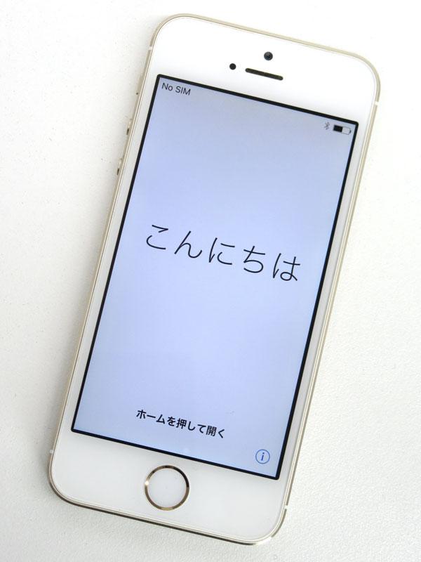 アップル『iPhone 5s 32GB au』ME337J/A ゴールド iOS10.2.1 4型Retina ○判定 スマートフォン【中古】