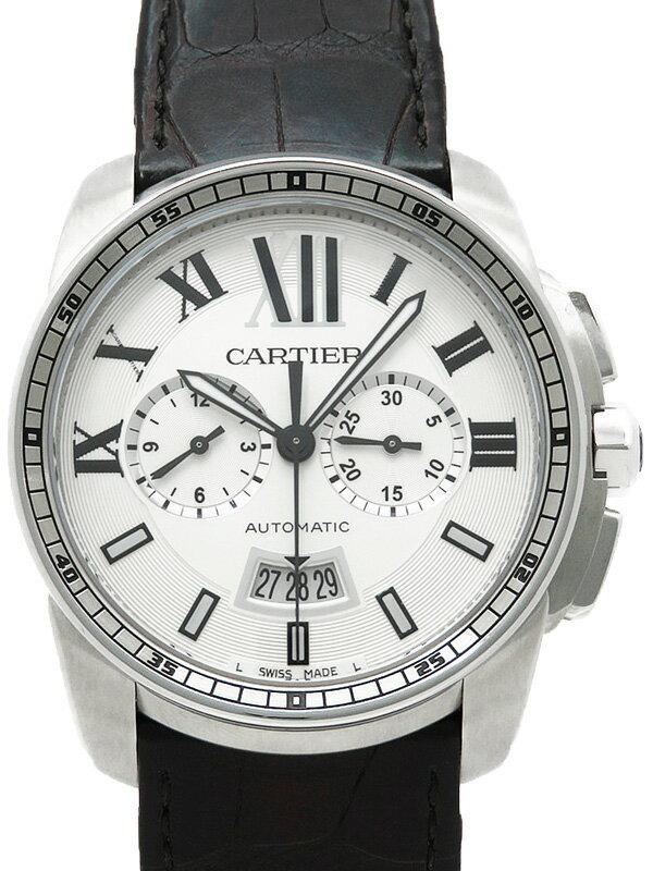 【Cartier】【裏スケ】カルティエ『カリブル ドゥ カルティエ』W7100046 メンズ 自動巻き 3ヶ月保証【中古】