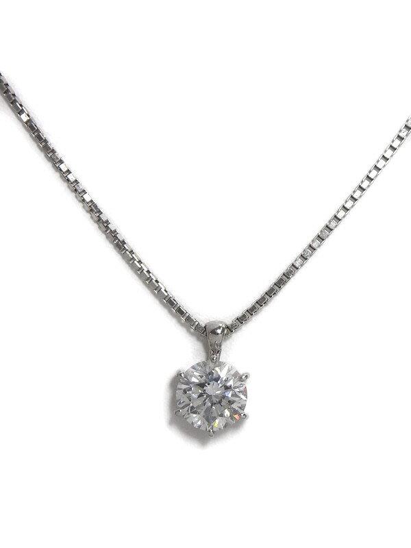【ソーティング】セレクトジュエリー『PT/PT850ネックレス 1Pダイヤモンド2.043ct/F/SI-2/GOOD』1週間保証【中古】