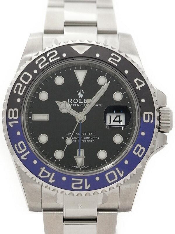 【ROLEX】【'16年購入】ロレックス『GMTマスター2 青×黒ベゼル』116710BLNR ランダム番 メンズ 自動巻き 12ヶ月保証【中古】