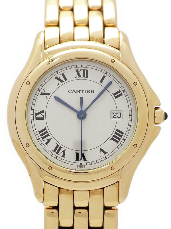 【CARTIER】【YGケース】【電池交換済】カルティエ『クーガー』メンズ クォーツ 6ヶ月保証【中古】