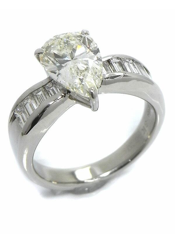 【ソーティング】セレクトジュエリー『PT900リング ダイヤモンド2.655ct/K/VS-2 0.65ct』14号 1週間保証【中古】