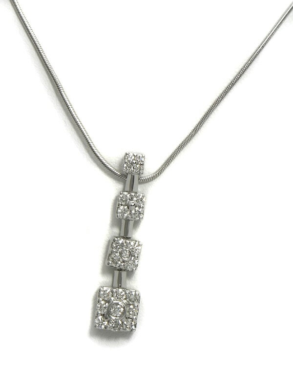 セレクトジュエリー『K18WGネックレス ダイヤモンド』1週間保証【中古】