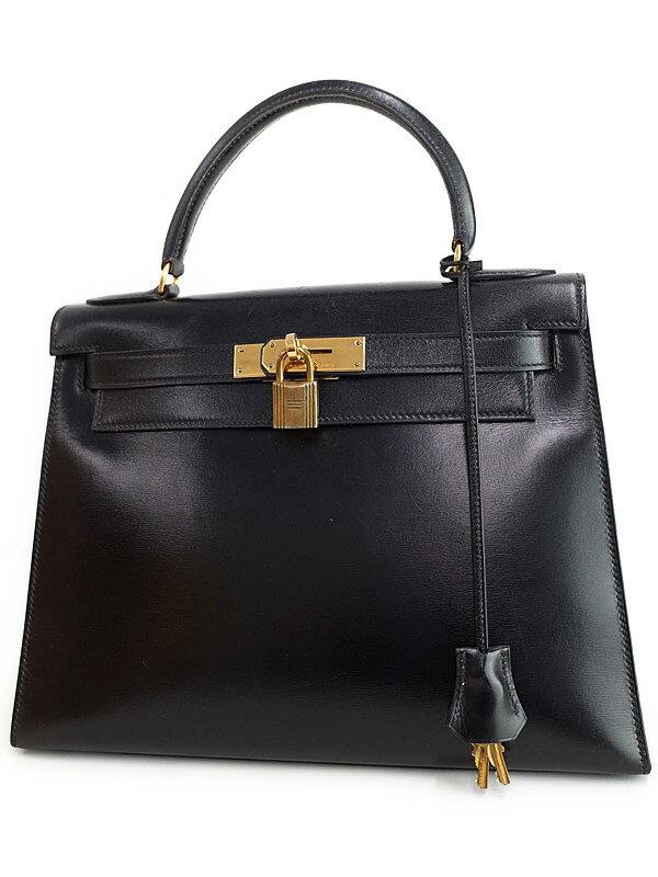 【HERMES】【ゴールド金具】エルメス『ケリー28 外縫い』L刻印 1982年製 レディース ハンドバッグ 1週間保証【中古】