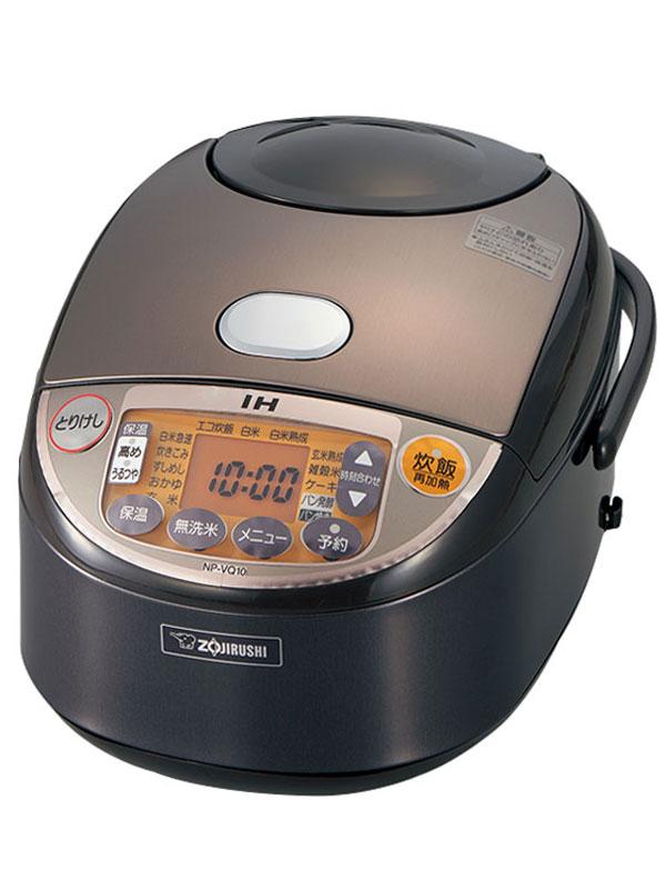 象印『極め炊き』NP-VQ10-TA ブラウン 5.5合炊き 豪熱沸とうIH 黒まる厚釜 IH炊飯ジャー【中古】