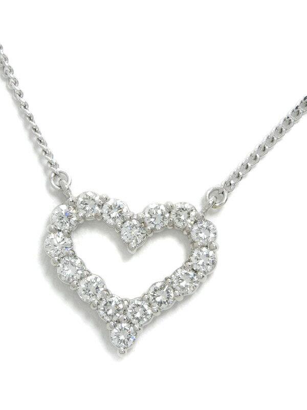 セレクトジュエリー『PT900/PT850ネックレス ダイヤモンド1.05ct ハートモチーフ』1週間保証【中古】