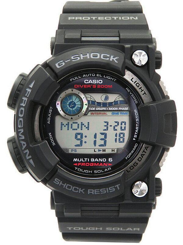 【CASIO】【G-SHOCK】カシオ『Gショック フロッグマン』GWF-1000-1JF メンズ ソーラー電波クォーツ 1ヶ月保証【中古】