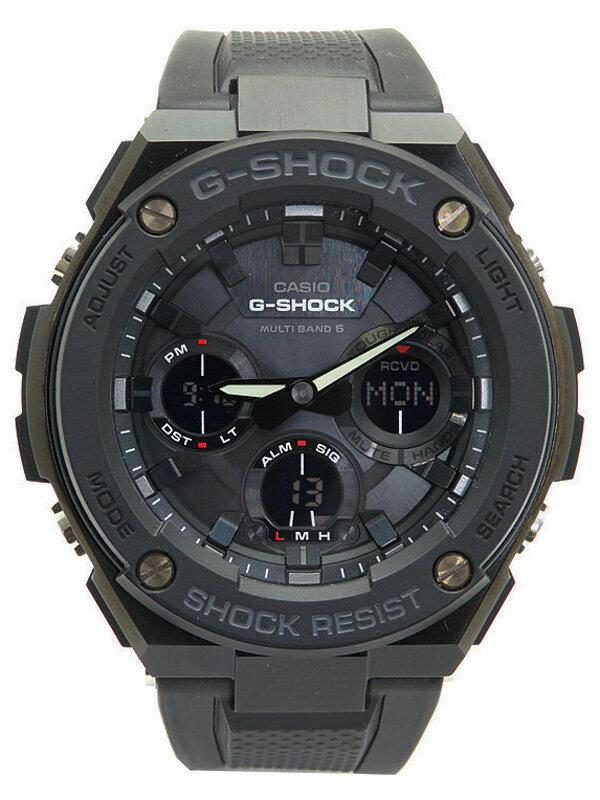 【CASIO】【G-SHOCK】【美品】【'17年購入】カシオ『Gショック Gスチール』GST-W100G-1BJF メンズ ソーラー電波クォーツ 1週間保証【中古】