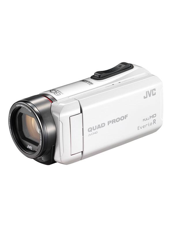 ビクター『Everio(エブリオ)』GZ-R400-W ホワイト 32GB 光学40倍 防水防塵 耐衝撃 耐低温 デジタルビデオカメラ【中古】
