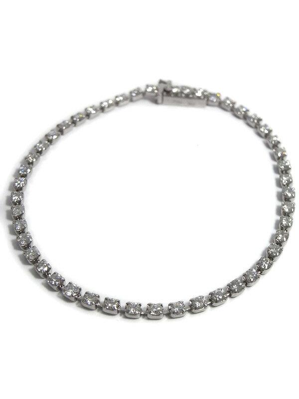 セレクトジュエリー『PT900ブレスレット ダイヤモンド3.00cgt テニスブレス』1週間保証【中古】