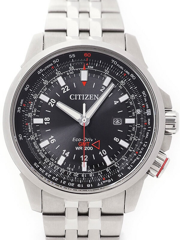 【CITIZEN】シチズン『プロマスター GMT』BJ7071-54E メンズ ソーラークォーツ 1週間保証【中古】