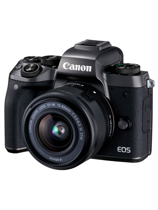 【Canon】キヤノン『EOS M5 EF-M15-45 IS STM レンズキット』EOSM5BK-1545ISSTMLK ミラーレス一眼カメラ【中古】