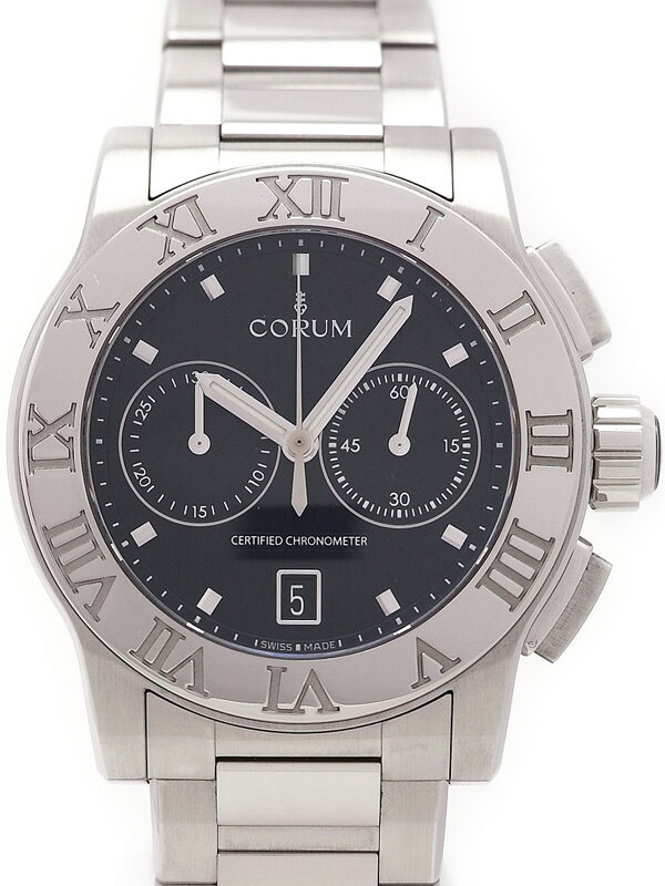 【CORUM】コルム『ロムルス クロノグラフ』984.715.20/V810 BN77 メンズ 自動巻き 3ヶ月保証【中古】
