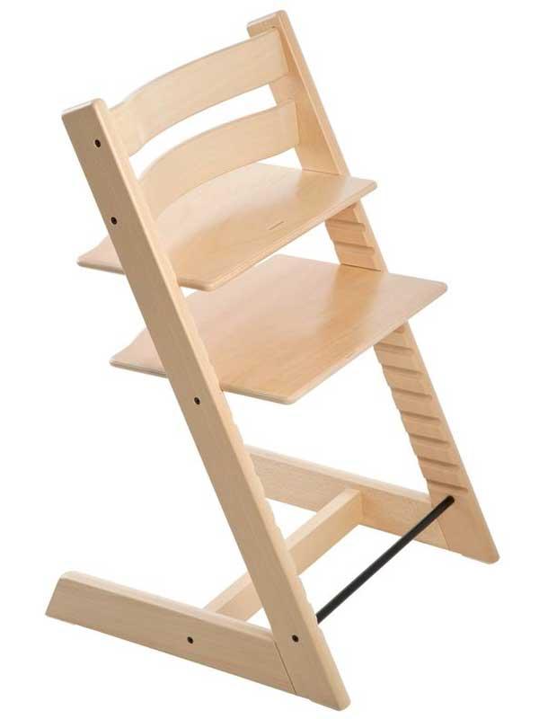 ストッケ『トリップ トラップ』ナチュラル ハイチェア 北欧デザイン 木製ベビーチェア 【中古】