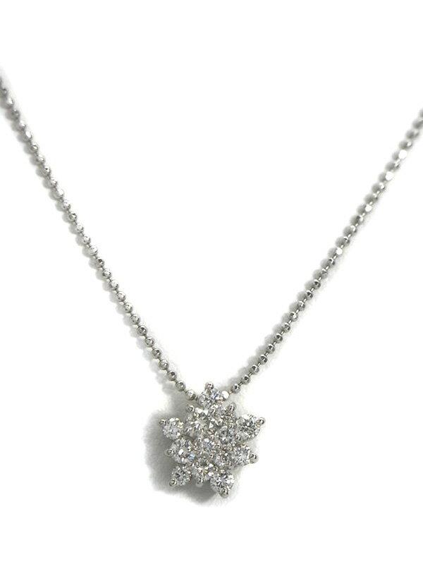 【仕上済】セレクトジュエリー『PT900/PT850ネックレス ダイヤモンド0.50ct』1週間保証【中古】
