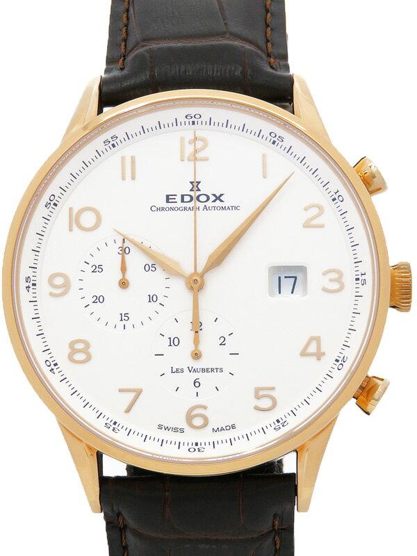 【EDOX】【裏スケ】エドックス『レ・ヴォーベル クロノグラフ』91001-37R-ABR メンズ 自動巻き 1ヶ月保証【中古】