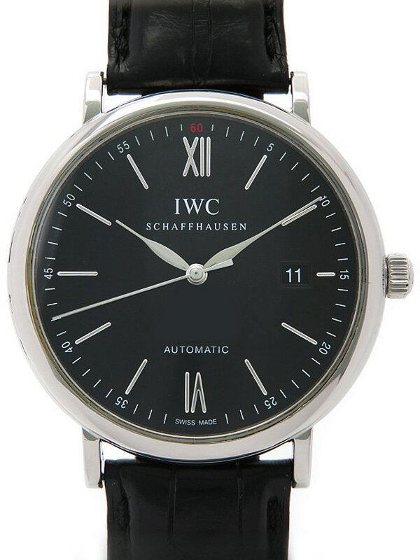 【IWC】【OH済】インターナショナルウォッチカンパニー『ポートフィノ』IW356502 メンズ 自動巻き 3ヶ月保証【中古】