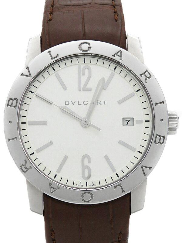 【BVLGARI】【裏スケ】【'17年購入】ブルガリ『ブルガリブルガリ』BB39S メンズ 自動巻き 3ヶ月保証【中古】