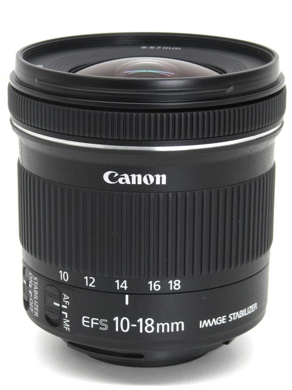 【Canon】キヤノン『EF-S10-18mm F4.5-5.6 IS STM』EF-S10-18ISSTM 16-29mm相当 デジタル一眼レフカメラ用レンズ 1週間保証【中古】