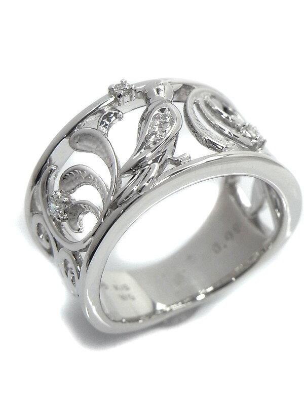 【TASAKI】【仕上済】タサキ『K18WGリング ダイヤモンド0.08ct 小鳥デザイン』13.5号 1週間保証【中古】