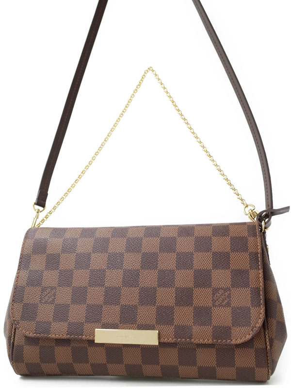 【LOUIS VUITTON】ルイヴィトン『ダミエ フェイボリットMM』N41129 レディース 2WAYバッグ 1週間保証【中古】