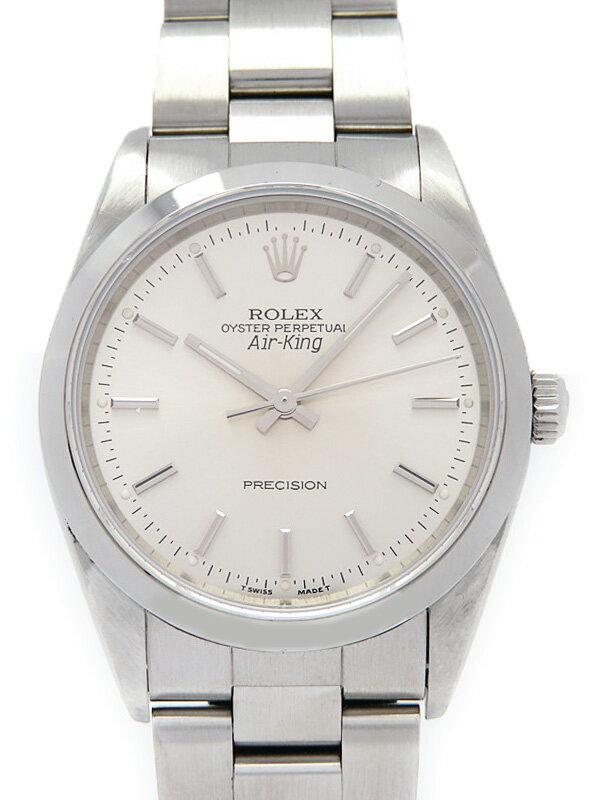 【ROLEX】【希少ロゴAir-King】ロレックス『エアキング』14000 X番'91年頃製 メンズ 自動巻き 12ヶ月保証【中古】