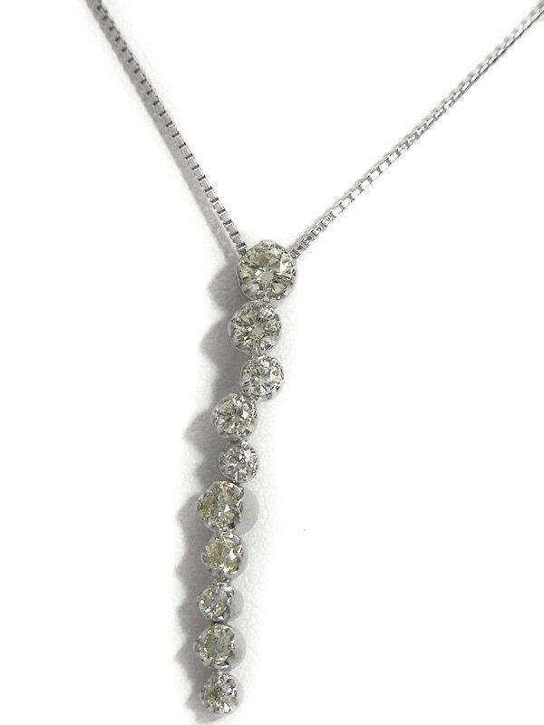セレクトジュエリー『K18WGネックレス ダイヤモンド0.70ct』1週間保証【中古】