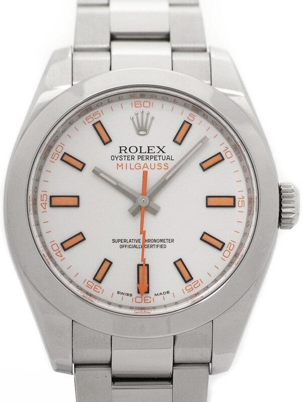 【ROLEX】【OH・仕上済】 ロレックス『ミルガウス』116400 V番'09年頃製 メンズ 自動巻き 12ヶ月保証【中古】