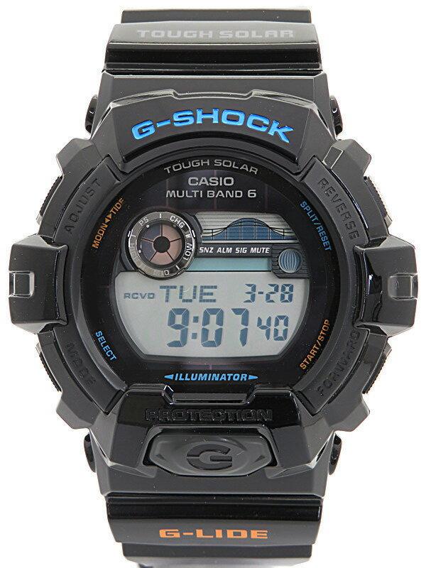 【CASIO】【G-SHOCK】【'17年購入】【美品】カシオ『Gショック Gライド』GWX-8900-1JF メンズ ソーラー電波クォーツ 1週間保証【中古】
