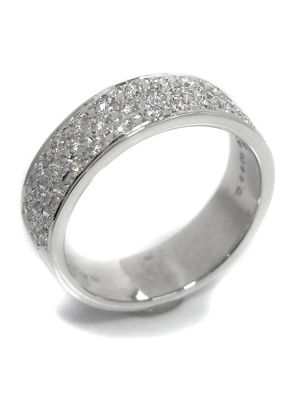 【MIKIMOTO】【仕上済】ミキモト『K18WGリング ダイヤモンド0.44ct』11号 1週間保証【中古】