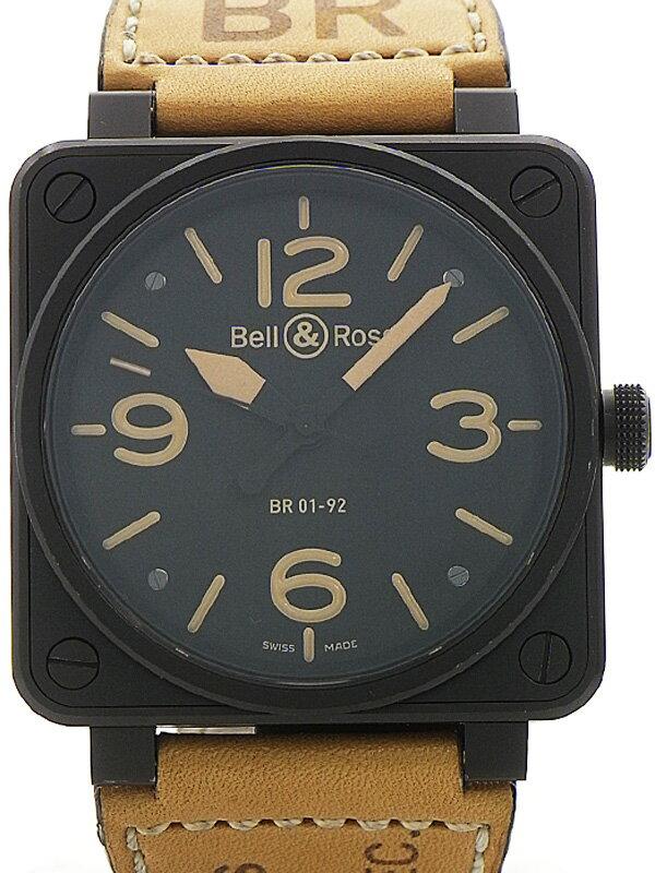 【Bell&Ross】【内部点検済】ベル&ロス『ヘリテージ』BR01-92HERI-CA メンズ 自動巻き 3ヶ月保証【中古】