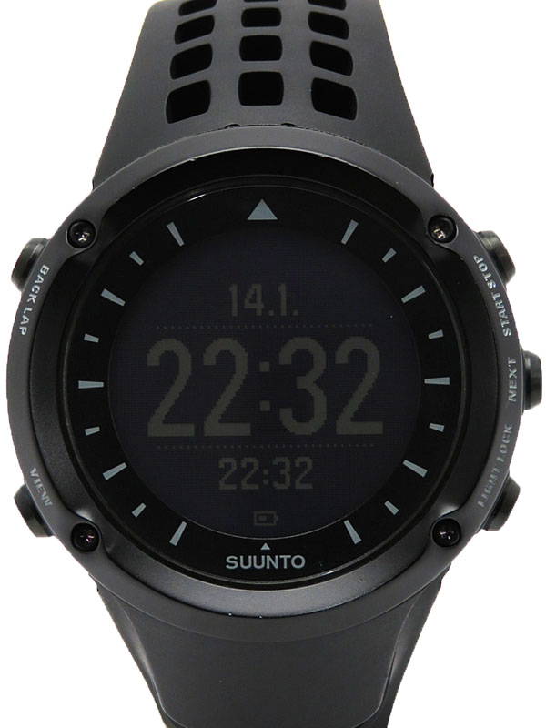 【SUUNTO】スント『アンビット ブラック』SS018374000 メンズ 腕型端末 1週間保証【中古】