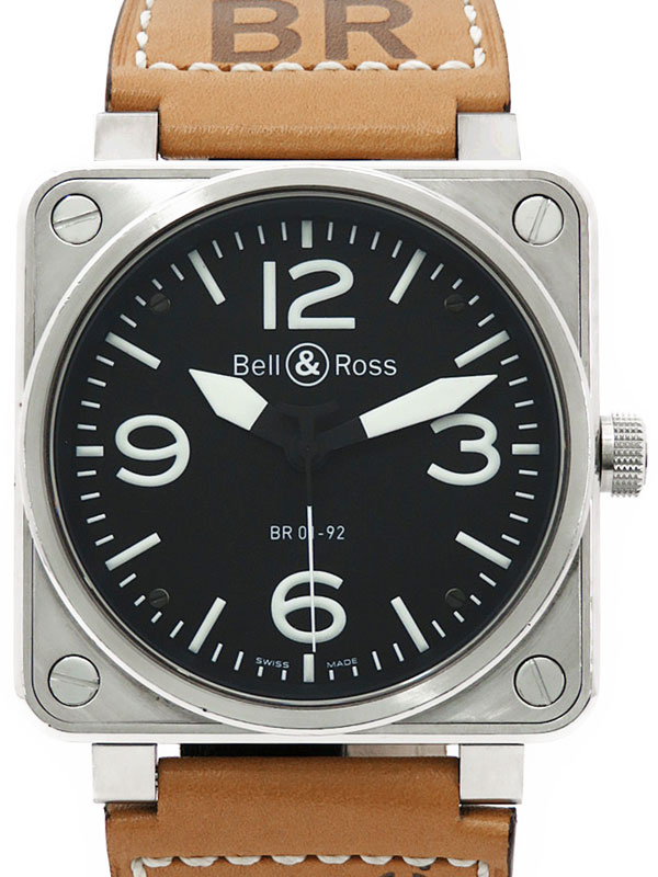 【Bell&Ross】【仕上済】ベル&ロス『オートマティック』BR01-92 メンズ 自動巻き 3ヶ月保証【中古】