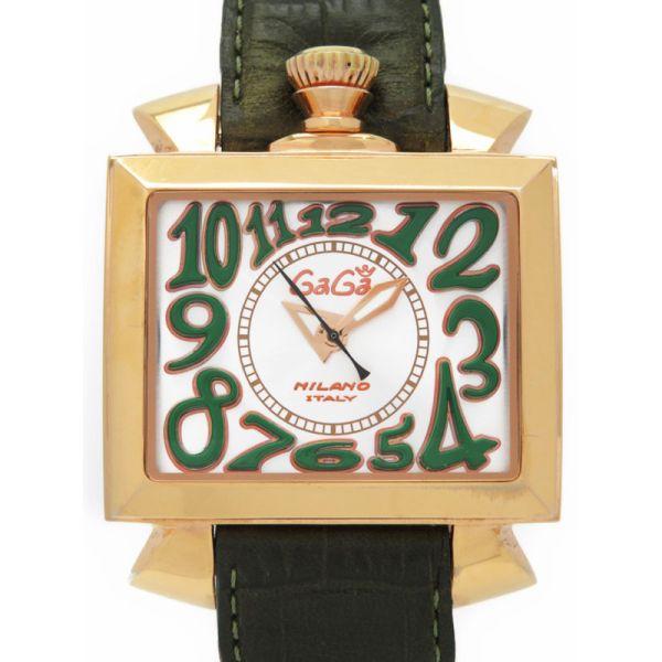 【GaGa MILANO】【裏スケ】【OH済】ガガミラノ『ナポレオーネ』6001.2 メンズ 自動巻き 1ヶ月保証【中古】