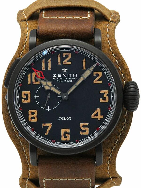 【ZENITH】【1903本限定】【'16年購入】ゼニス『パイロット タイプ20 GMT』96.2431.693/21.C738 メンズ 自動巻き 6ヶ月保証【中古】